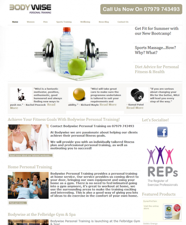 New Personal Trainer Website