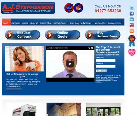 Removals company moves to a brand new website
