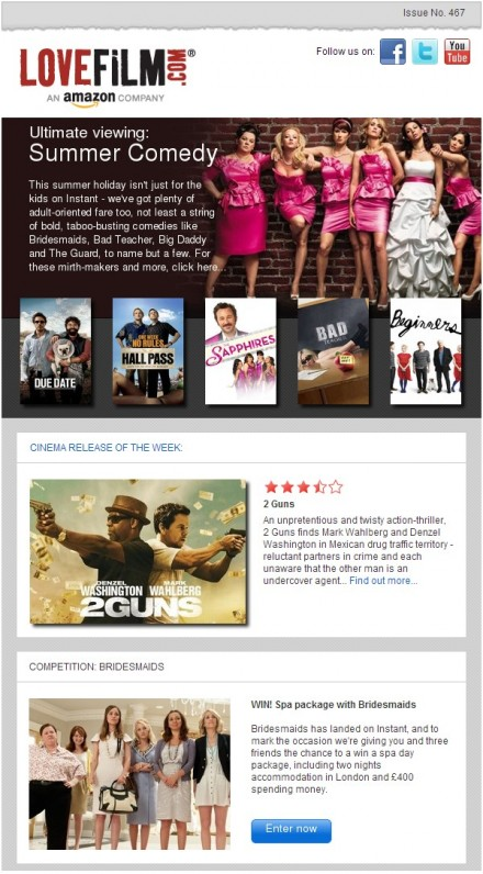 Win with LOVEFiLM!