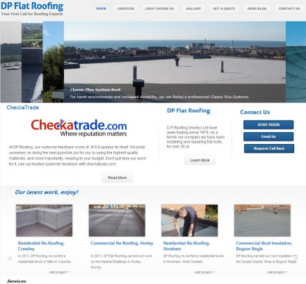 Family roofing business gets professional cms website