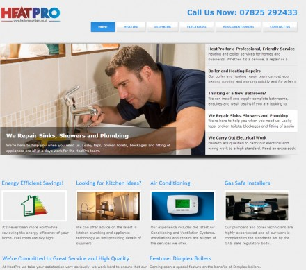 Joomla cms website design for domestic plumbers