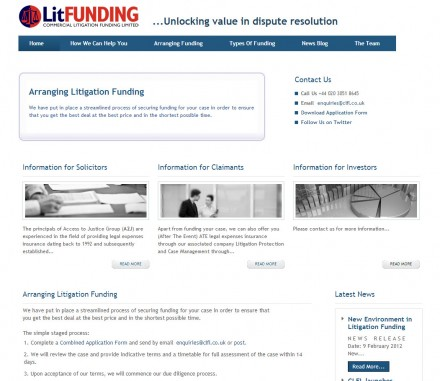 Litigagtion funding website attracts more claimants