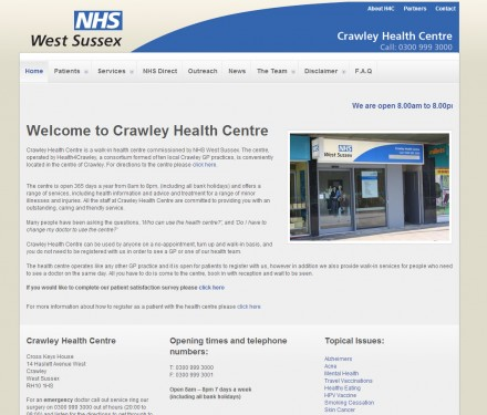 Spiritas builds high quality website for NHS health centre