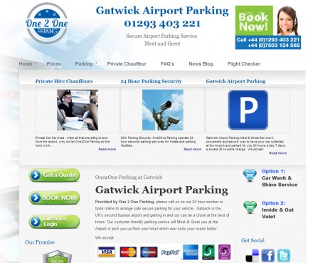 Brand new website design for parking booking business