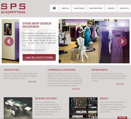 An online shopfront for a professional shopfitters