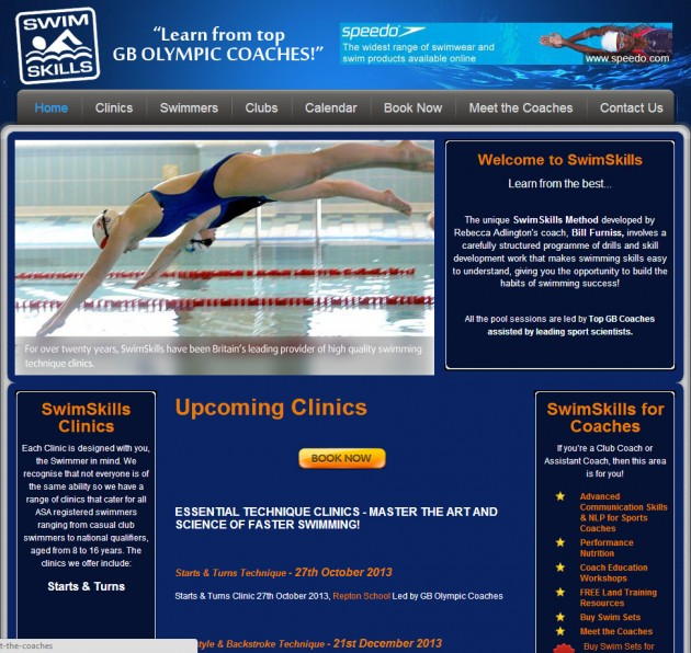 e-Commerce website design for Olympic coach