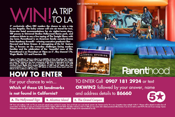 Our promotion features in OK! magazine!