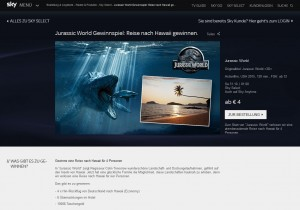 Jurassic World Prize Promotion